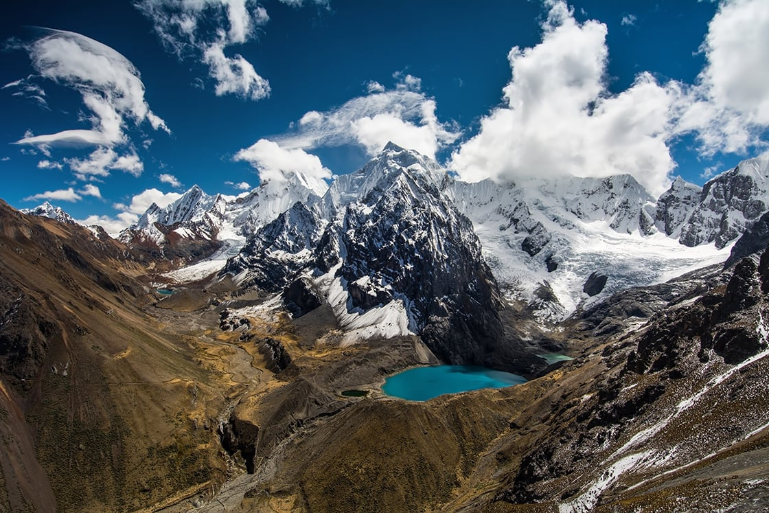 Amazing View In Spectacular High Mountains Cordillera Huayhuash