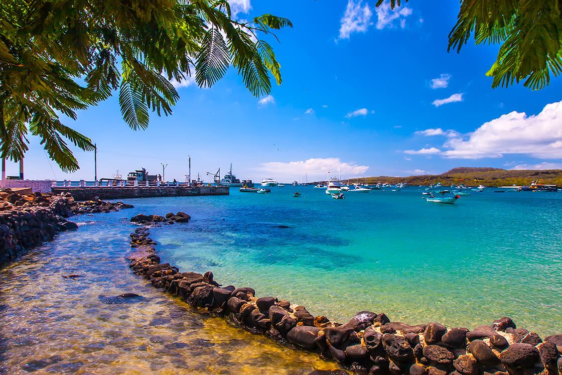 Bay On San Cristobal Island, Galapagos