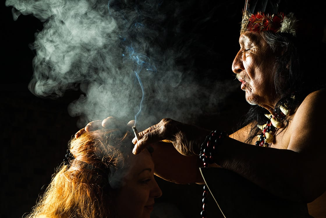 Shaman during Ayahuasca Ceremony
