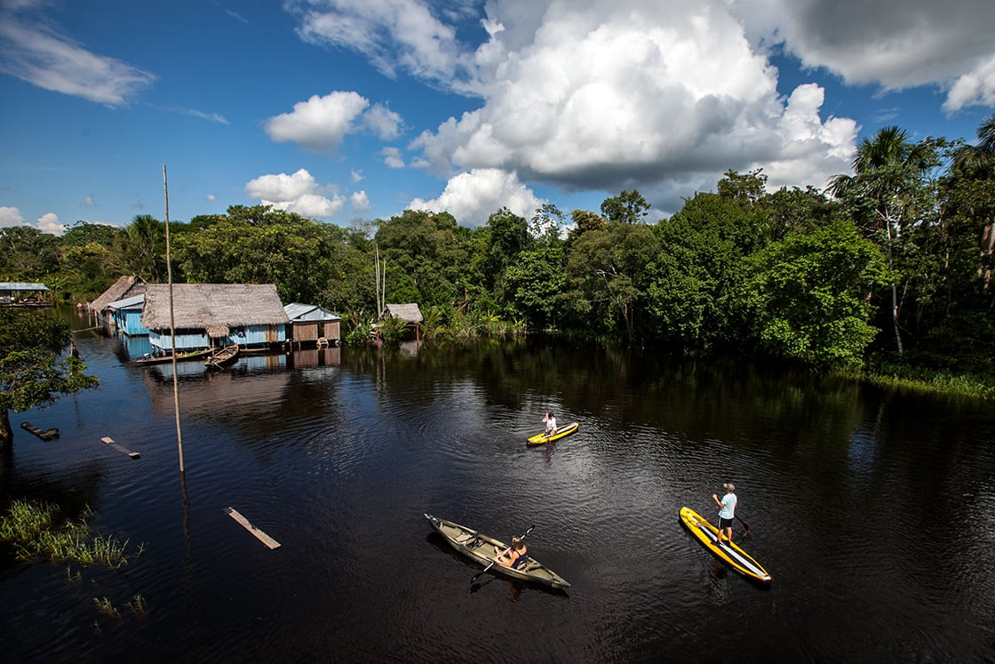 Stand Up Paddle Boarding In the Amazon River