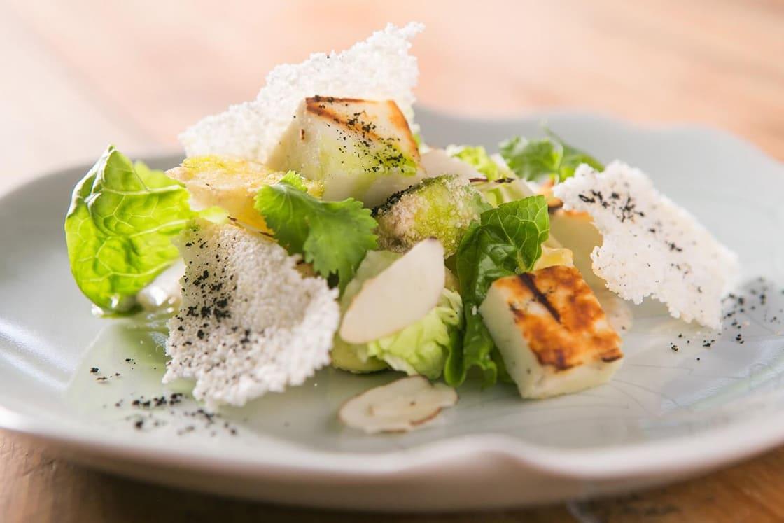 Crunchy Avocado and Fresh Buffalo Mozzarella Salad