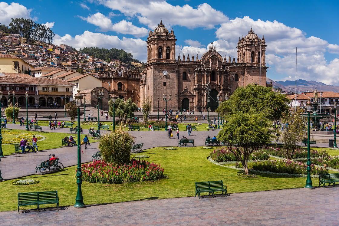 Panoramic View Of Cusco Main Square