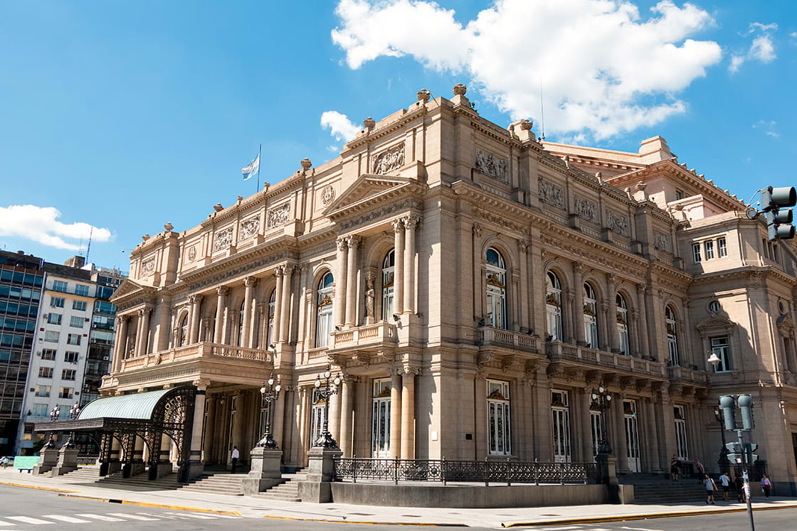 Teatro Colon, the main opera house in Buenos Aires, Argentina