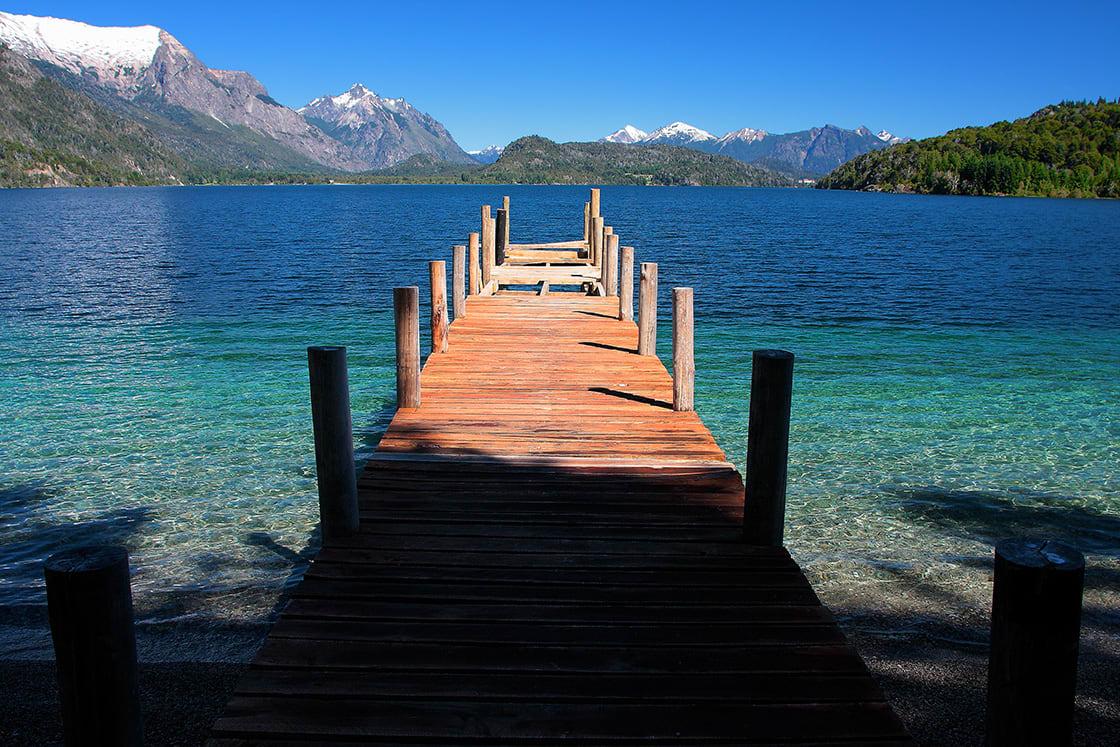 Beautiful Dock Lake in San Carlos de Bariloche