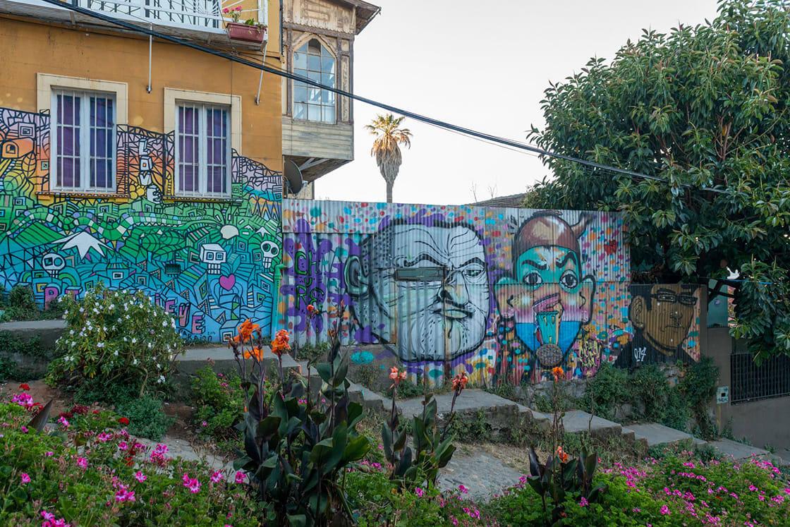 Art Street In Valparaiso