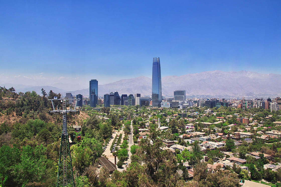 Panoramic View Of Torre Costanera, In Santiado de Chile