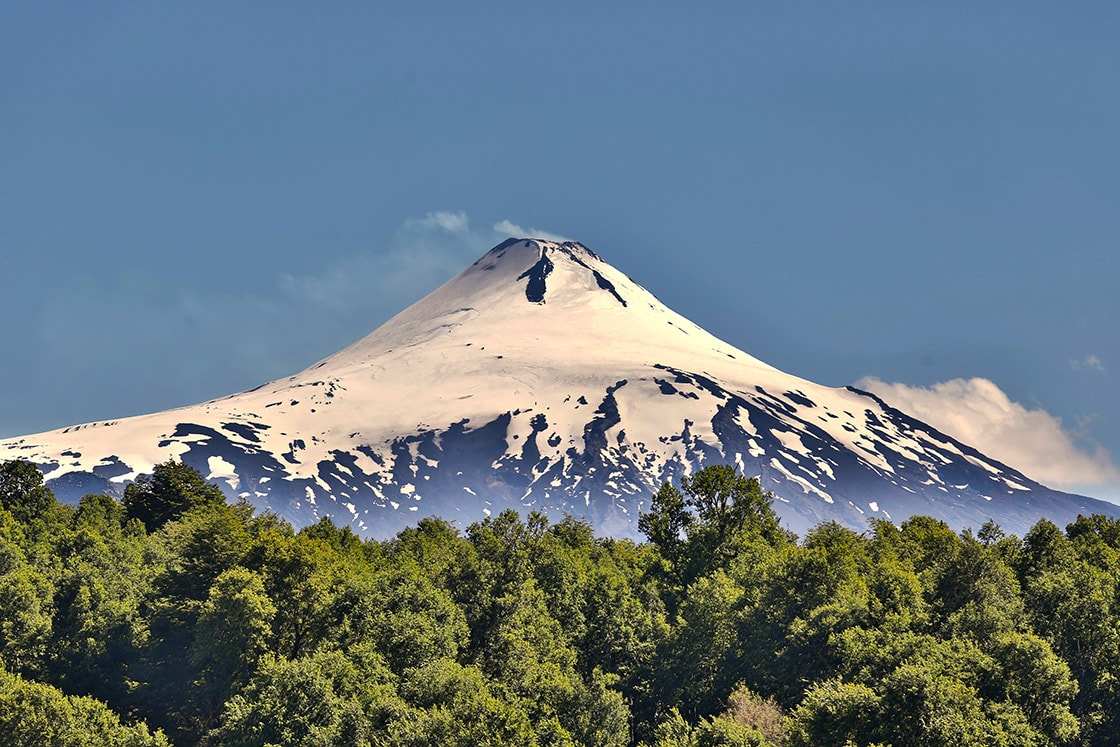 Villarrica Volcano Of The City Of Pucon In Chile