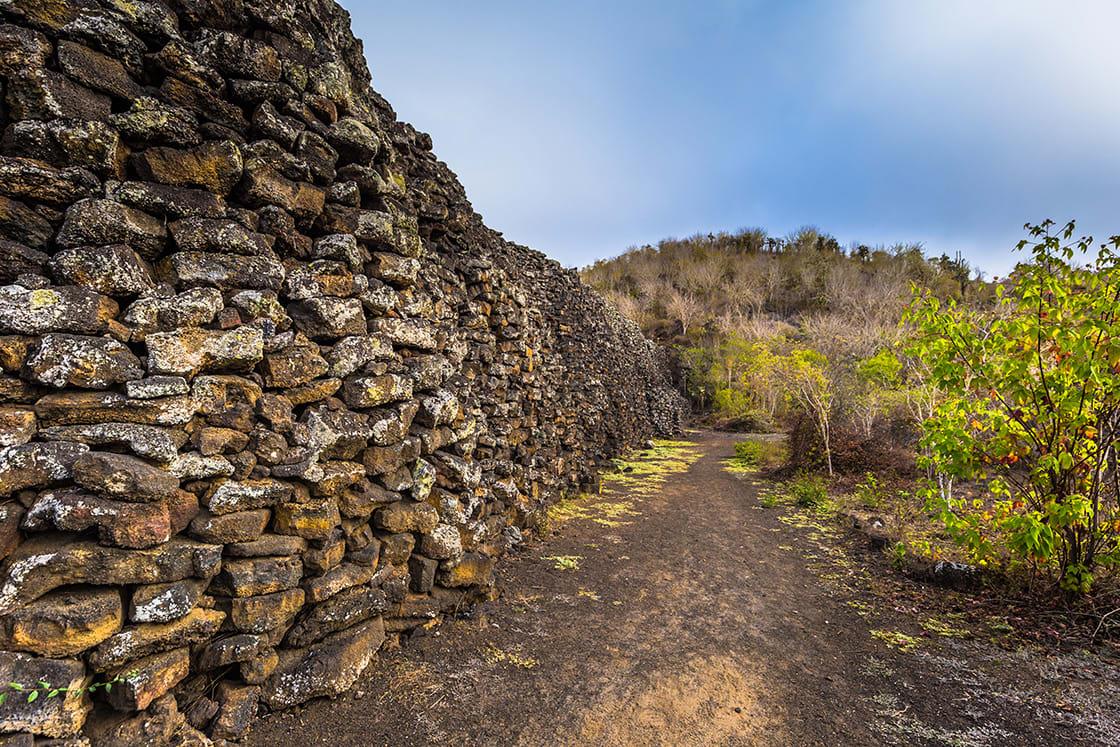 Wall Of Tears On Isabela Island, Galapagos