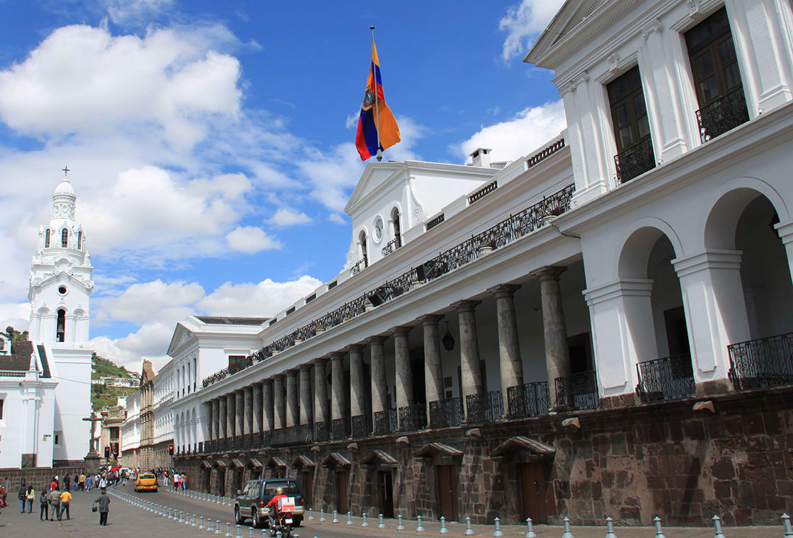 Carondelet Palace In The City Of Quito In Ecuador