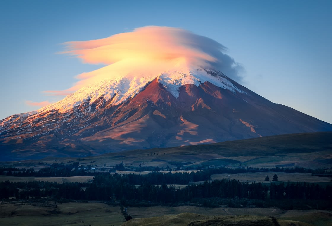 Clouds Covering The Top Of The Cotopaxi Volcano