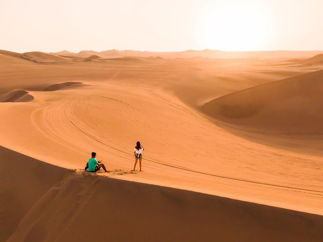 Sandboarding In The Ica Dunes