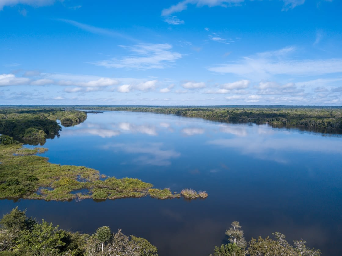 Drone Aerial View Of The Beautiful Xingu River