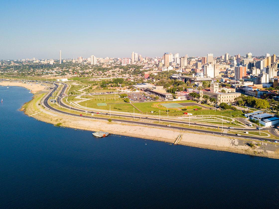 Aerial,Panoramic,View,Of,Skyscrapers,Skyline,Of,Latin,American,Capital