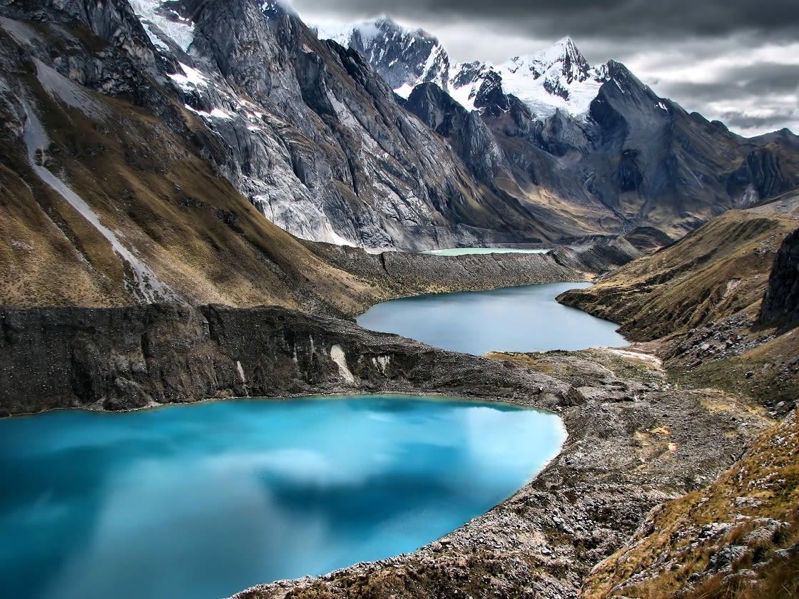 The Three Lagoons At The Huayhuash Trek
