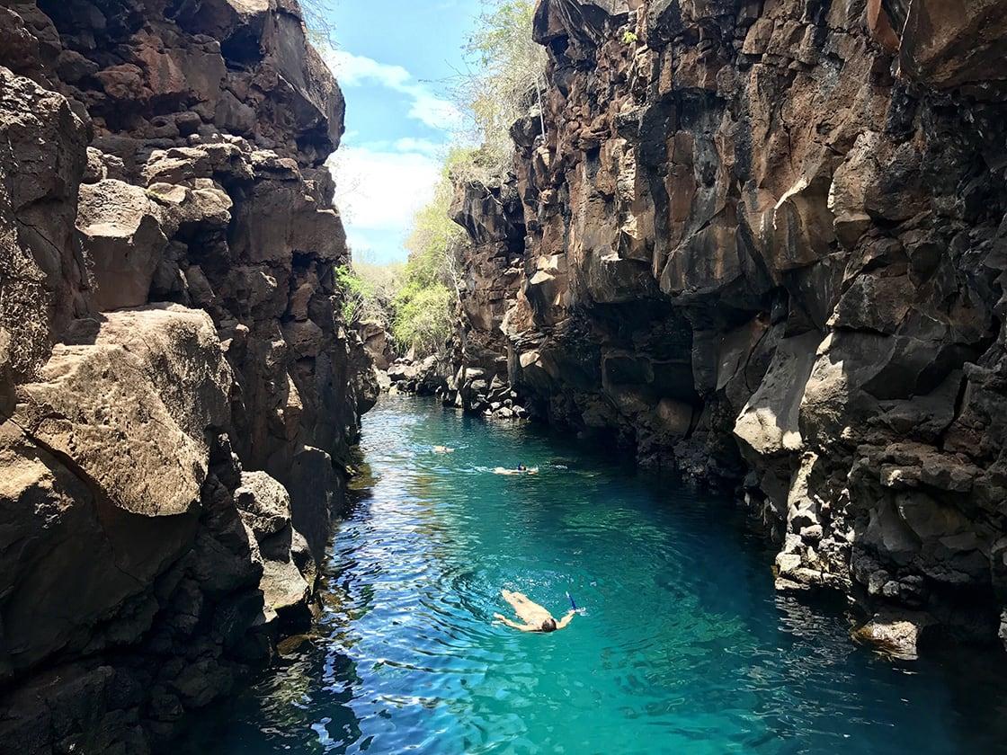 Natural Pool In The Santa Cruz Island In Galapagos