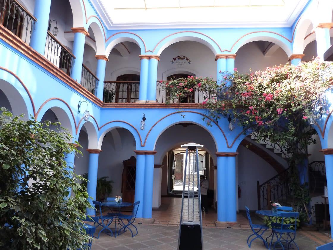 Patio Of Santa Maria Hotel In La Paz