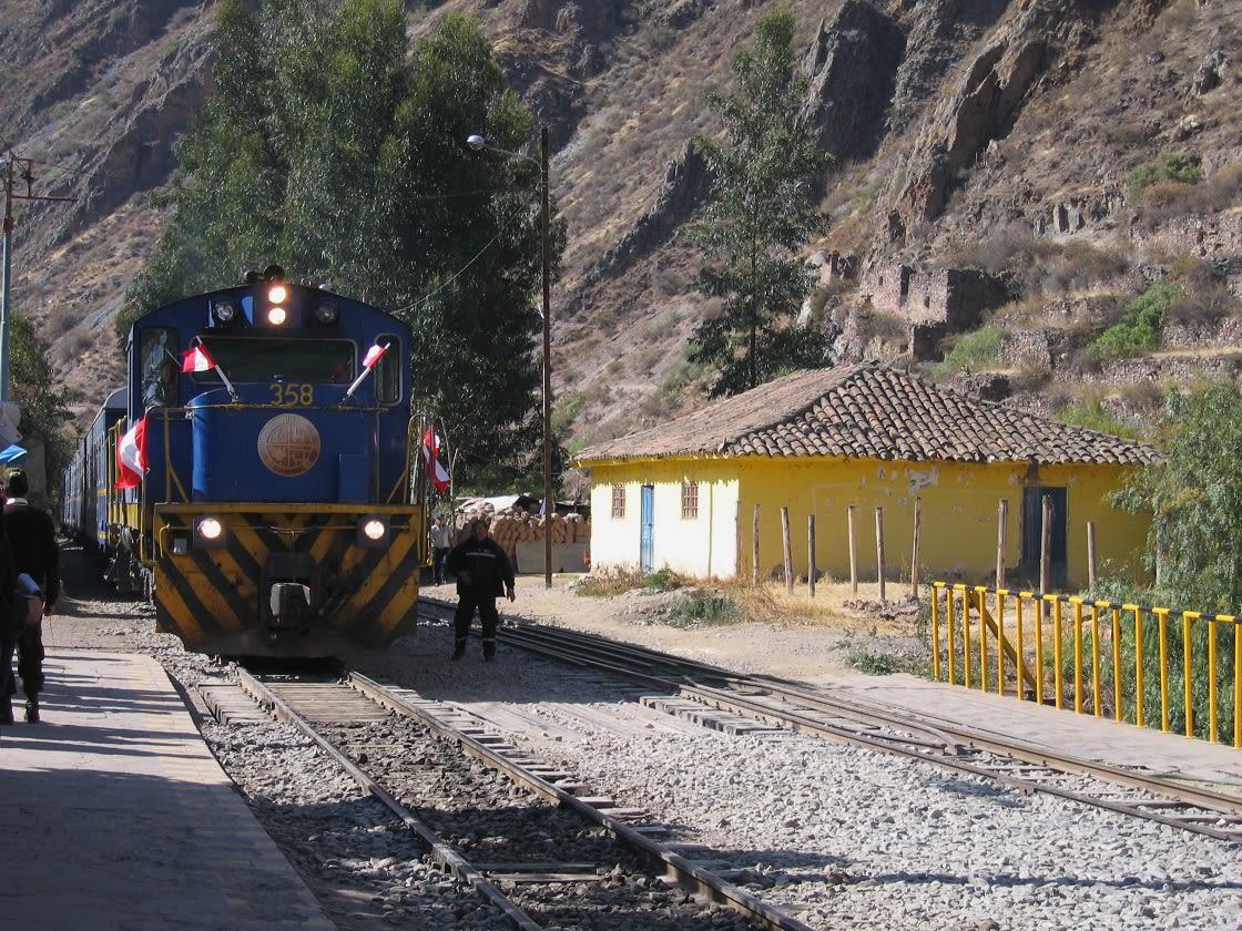 Train Arriving In Ollantaytambo, Peru