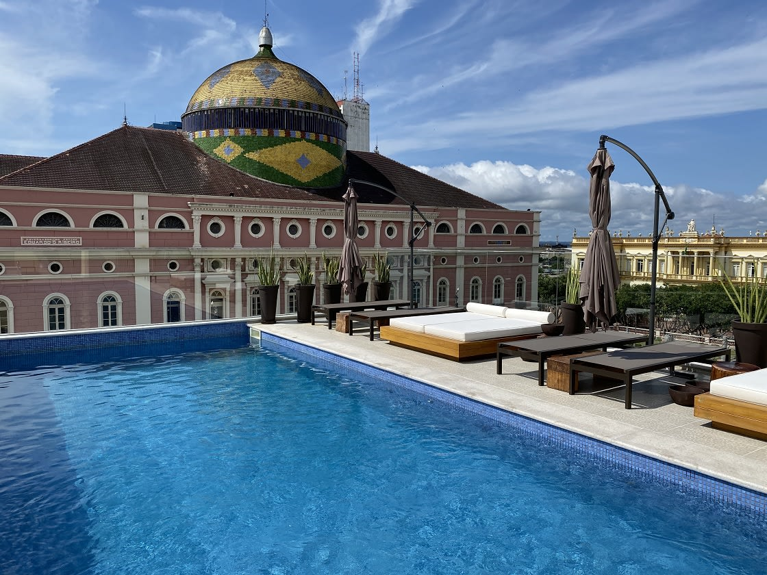 Pool At The Juma Opera Hotel In Manaus, Brazil
