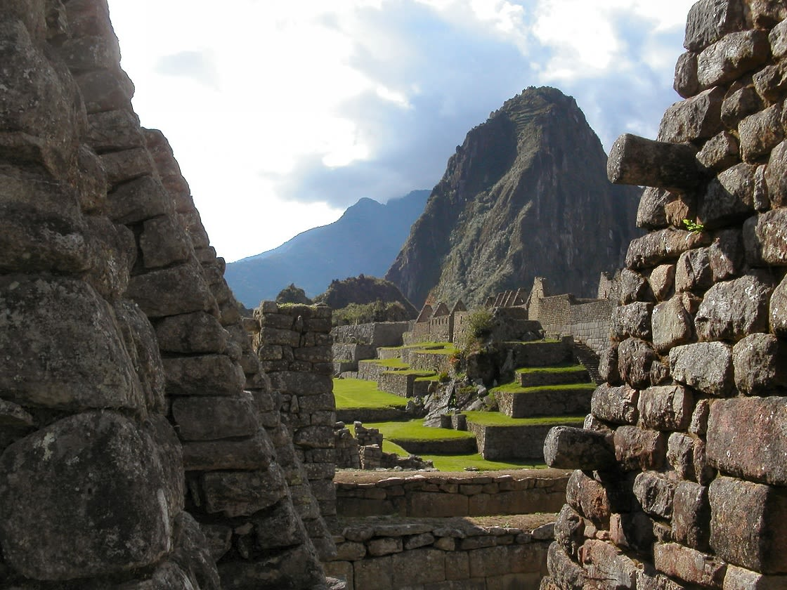 View Of The Central Plaza And The Huayna Picchu