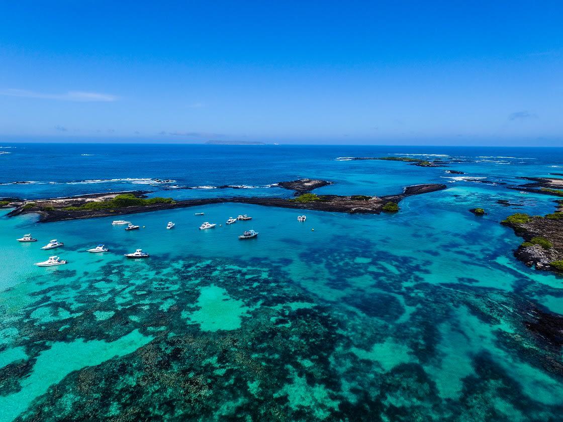 Beach On The Island Of San Cristobal In Galapagos Islands