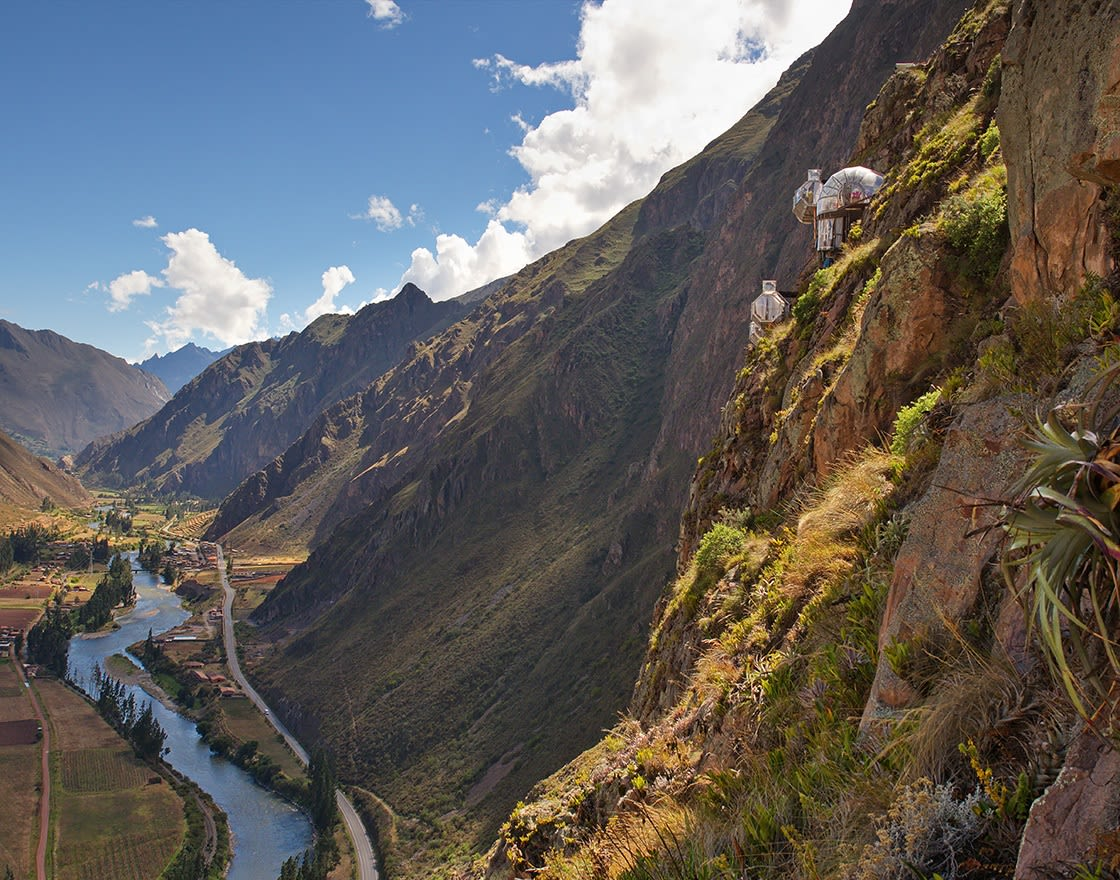 View Of The Sacred Valley Of The Incas And The Skylodge