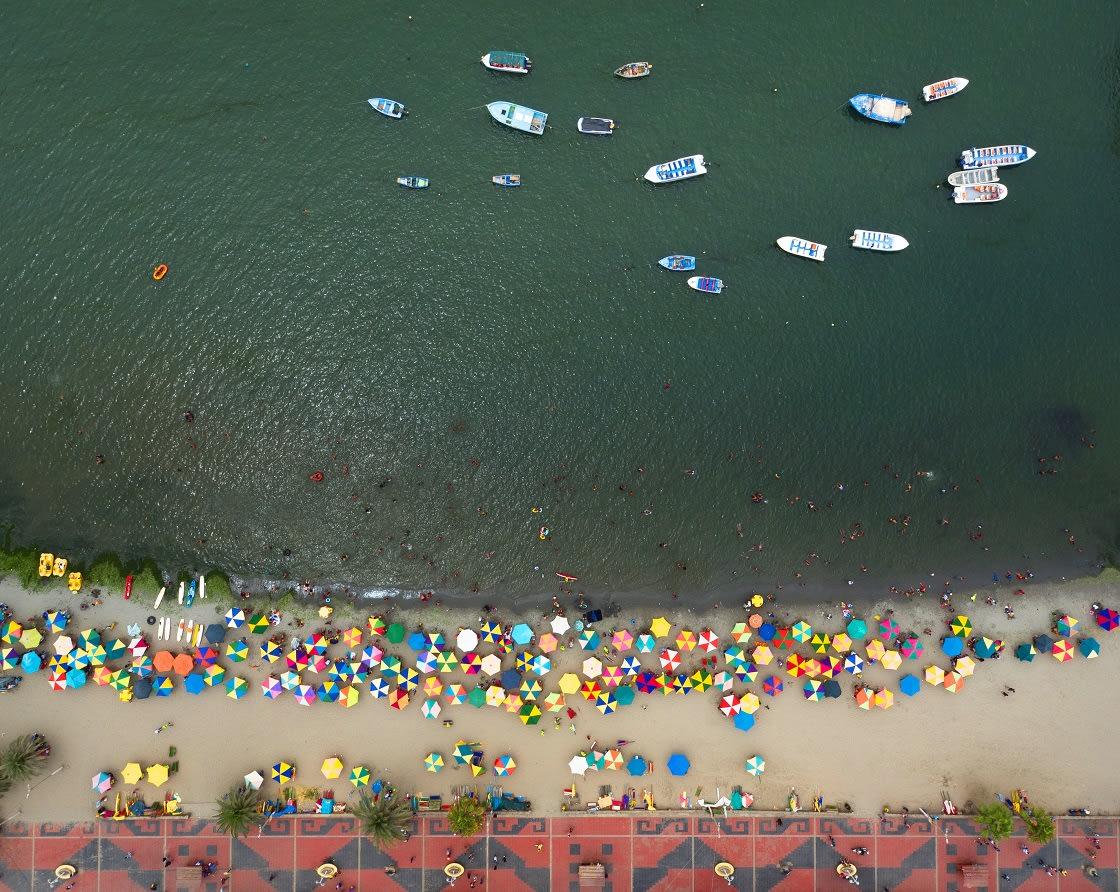 Aerial View Of El Chaco Town, Paracas