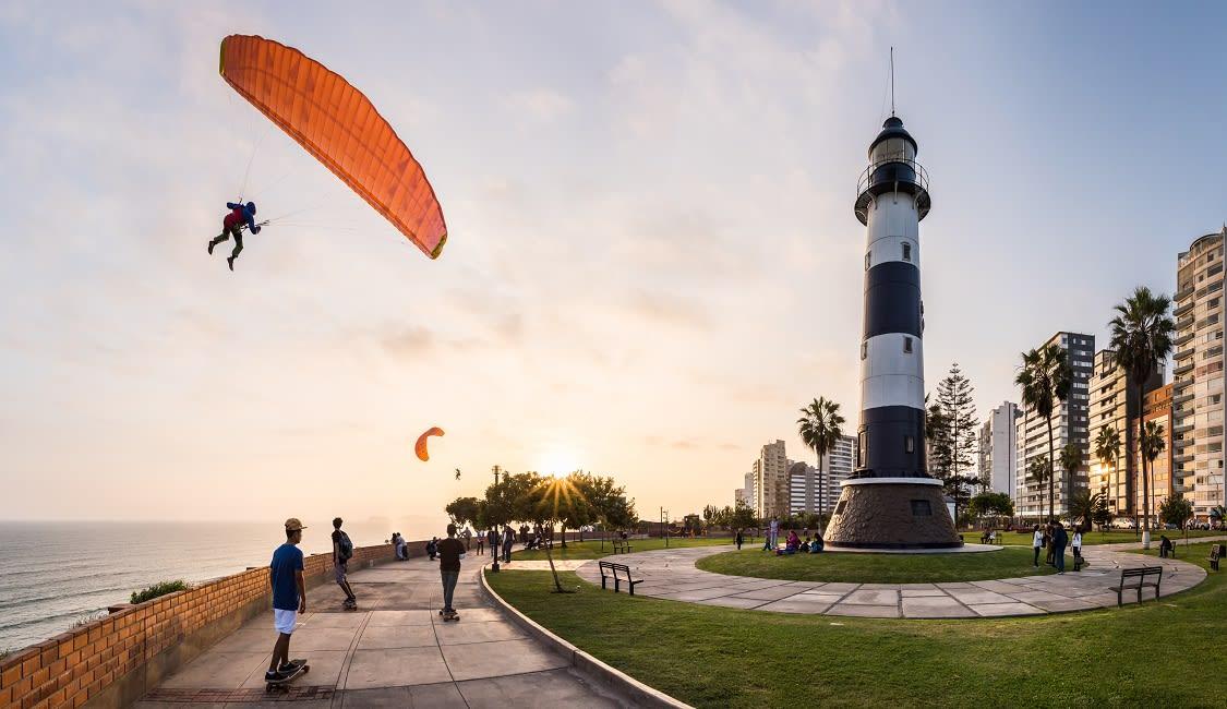 Paragliding In Miraflores, Lima - Peru