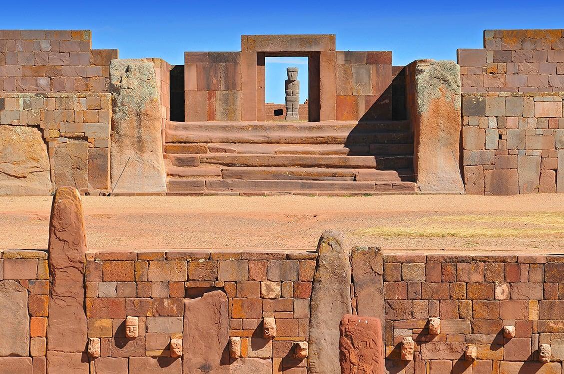 Kalasasaya Temple, An Important Pre Columbian Archaeological Site In Tiwanaku - Bolivia
