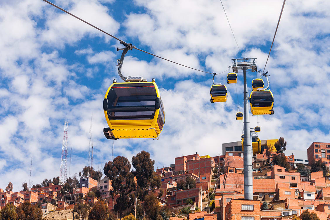 System Of Cable Cars in La Paz