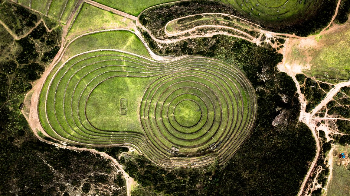 Aerial View Of Moray, Archeological Site