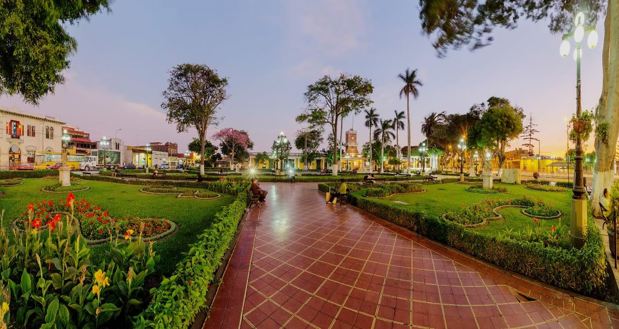 Panoramic View Of Barranco Main Park In Lima - Peru