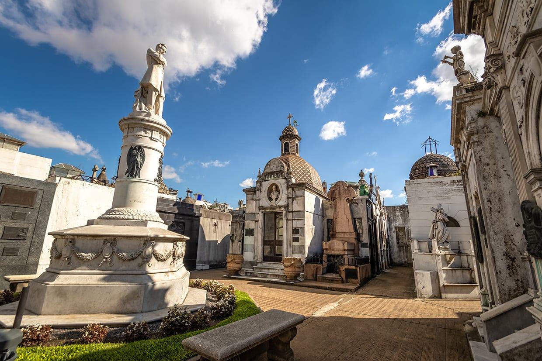 Recoleta Cemetery in Buenos Aires Argentina