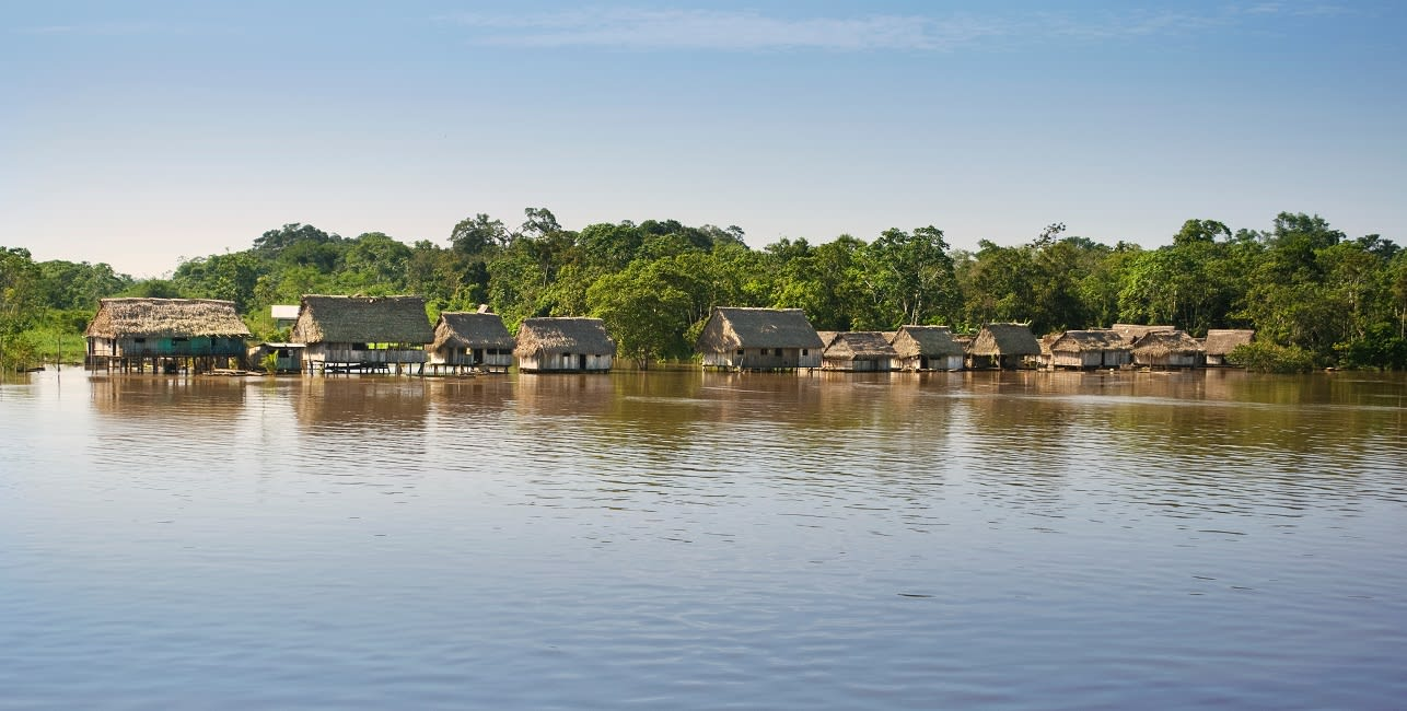Typical Settlement In Amazonas Landscape,