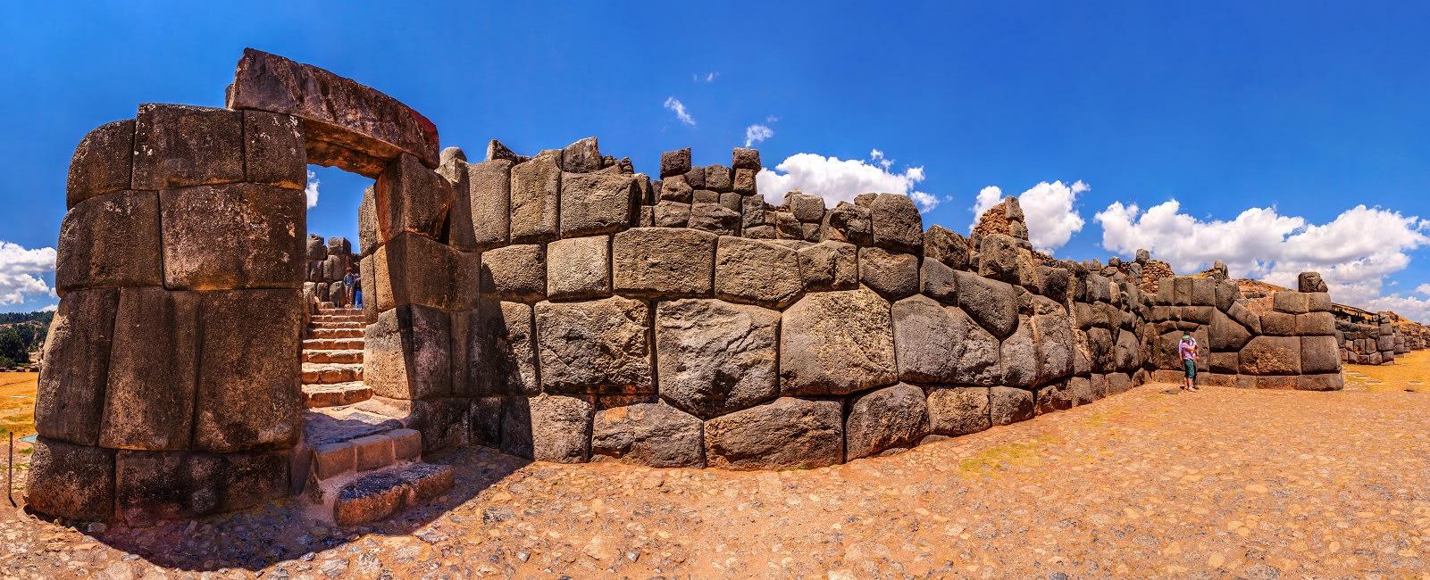 Panoramic View Of Sacsayhuaman Fortress In Cusco, Peru