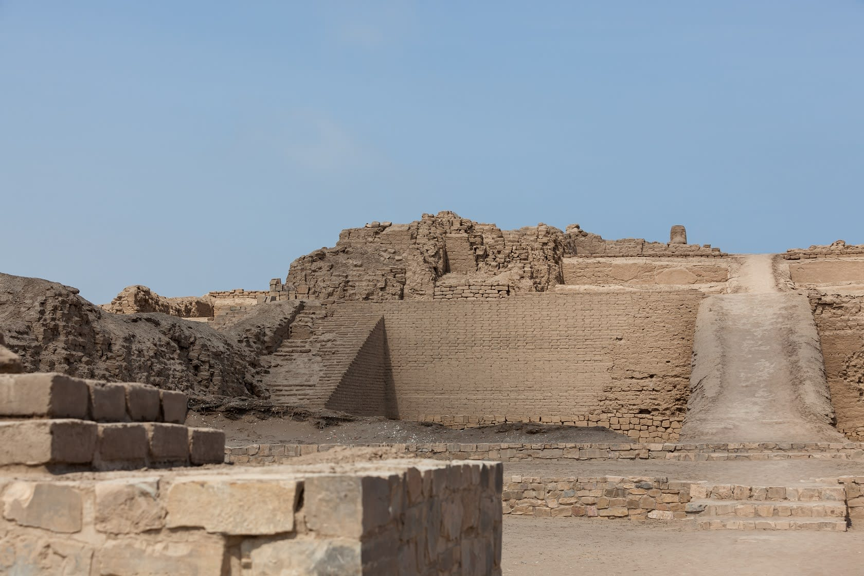 Entrance To The Temple Of The Sun In Pachacamac Archeological Site