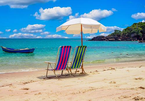 Beach chairs umbrella Buzios