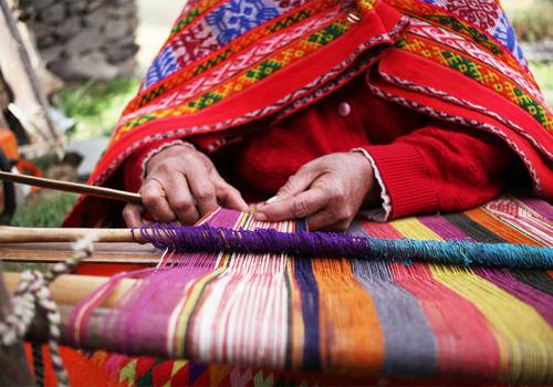 Andean Woman Weaver