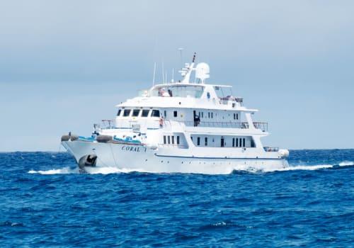 Coral cruise ship at sea