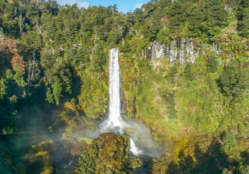 Waterfall Lakes District Chile