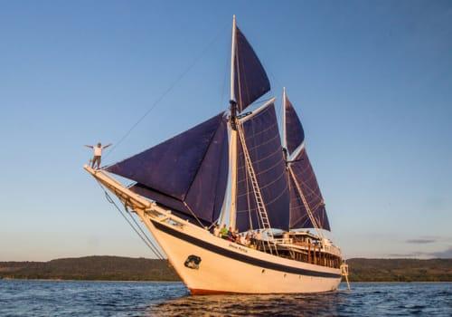 Ombak Putih at sea
