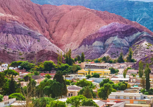 Purmamarca Town Colorful Mountains Behind