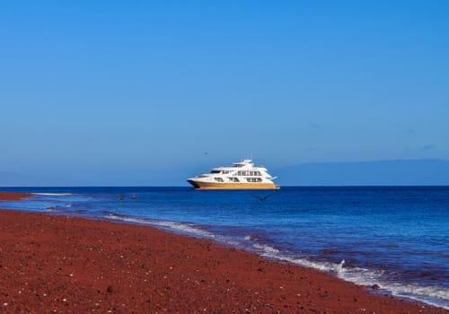 Galapagos Elite Ship Off Shore