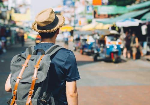 tourist walking around