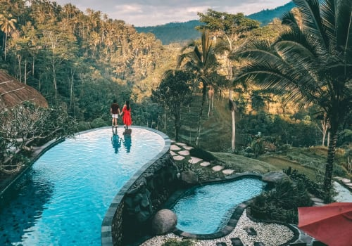 couple at a pool admiring quite a view