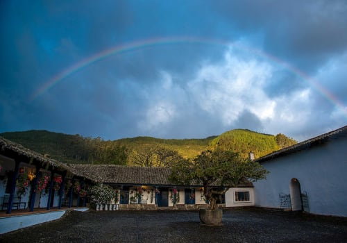 rainbow from patio casa zuleta
