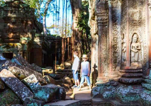 Kids at Angkor Temples