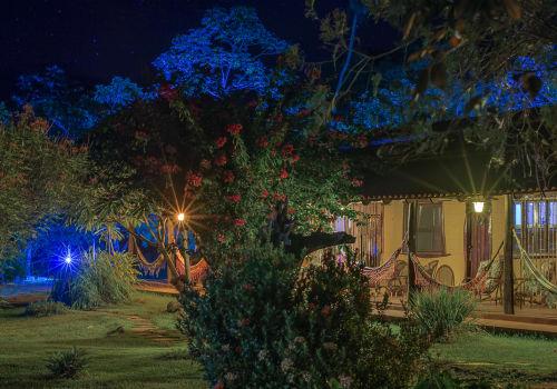 Lodge in Pantanal At Night