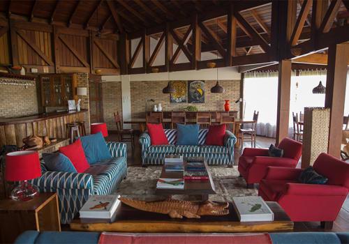 Caiman Lodge Internal Lounge