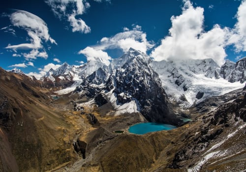 Amazing View In Spectacular High Mountains, Cordillera Huayhuash, Peru