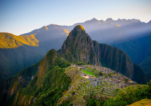 The first sun rays at Machu Picchu